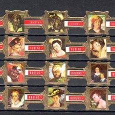Vitolas de colección: RUBENS, FRAGMENTOS DE RUBENS, SERIE 1ª, ROJO, 20 VITOLAS, SERIE COMPLETA.. Lote 195490410