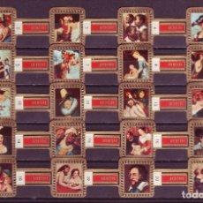 Vitolas de colección: RUBENS, CUADROS DE RUBENS, ROJO, 20 VITOLAS, SERIE COMPLETA.. Lote 195490635
