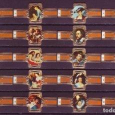 Vitolas de colección: RUBENS, CUADROS DE RUBENS, F.P. NARANJA, 20 VITOLAS, SERIE COMPLETA.. Lote 195490685