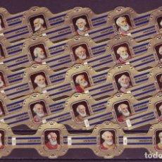 Vitolas de colección: RUBENS, PAPAS, SERIE 3ª, AZUL, 24 VITOLAS, SERIE COMPLETA.. Lote 195490873