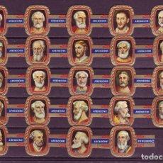 Vitolas de colección: RUBENS, PAPAS, SERIE 2ª, F.P. AZUL, 24 VITOLAS, SERIE COMPLETA.. Lote 195490955