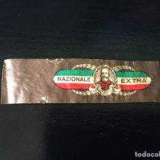 Vitolas de colección: VITOLA CLASICA - NAZIONALE EXTRA - LA DE LA FOTO VER TODOS MIS LOTES DE VITOLAS. Lote 195553437