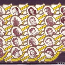 Vitolas de colección: ROYAL FLUSH, ESTRELLAS DE CINE AÑOS 50, BLANCO, 24 VITOLAS, SERIE COMPLETA.. Lote 196601002
