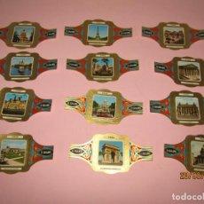 Vitolas de colección: VITOLAS VITOLINAS SERIE CIUDADES PARIS COMPLETA DEL 1/12 DE EL GUAJIRO GRAN TAMAÑO. Lote 277197178