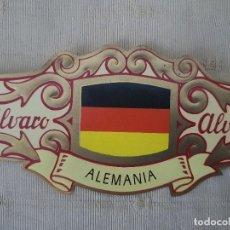 Vitolas de colección: VITOLA ALVARO BANDERA DE ALEMANIA, COLECCION ESPAÑA EN EUROPA Nº 2. Lote 202448576