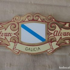 Vitolas de colección: VITOLA ALVARO BANDERA DE GALICIA, COLECCION ESPAÑA EN EUROPA Nº 24. Lote 202450017