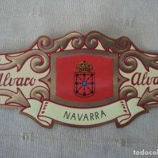 Vitolas de colección: VITOLA ALVARO BANDERA DE NAVARRA, COLECCION ESPAÑA EN EUROPA Nº 28. Lote 202450633