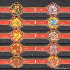 Vitolas de colección: ROKENDE JAN, FLORES, 10 VITOLAS, SERIE COMPLETA.. Lote 202814122