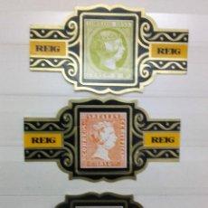 Vitolas de colección: VITOLAS REIG, LOTE DE 3, SERIE CLÁSICOS ESPAÑOLES. Lote 203040886