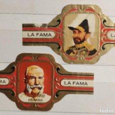 Vitolas de colección: 2 VITOLAS LA FAMA PEQUEÑAS DIVERSAS SERIES. Lote 203040966