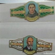 Vitolas de colección: 2 VITOLAS ALVARO SERIE FILÓSOFOS. Lote 203041062