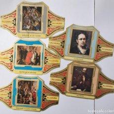 Vitolas de colección: 5 VITOLAS ALVARO SERIE CUADROS PINTORES ESPAÑOLES. Lote 203041156