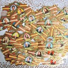 Vitolas de colección: MÁS DE 100 VITOLAS ALVARO. LITERATOS. Lote 203504185