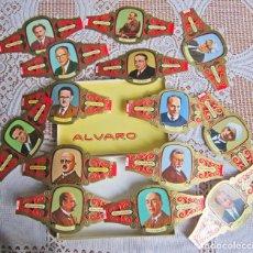 Vitolas de colección: 14 VITOLAS ALVARO GRANDES SERIE PREMIOS NOBEL. DISTINTOS. Lote 203505686