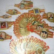 Vitolas de colección: LOTE MAS DE 150 VITOLAS, ALVARO, CAPOTE, LA FAMA, NEREIDA ... QUIJOTE, NOBEL, MARIPOSAS, INVENTORES,. Lote 179204960