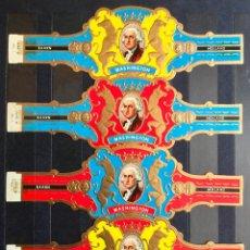 Anéis de charuto de coleção: VITOLAS RETRATOS DE WASHINGTON (4 VITOLINAS). Lote 203998867