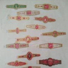 Vitolas de colección: LOTE DE 138 VITOLAS DE DISTINTAS MARCAS EN ALBÚM DE ÁLVARO. Lote 132342902