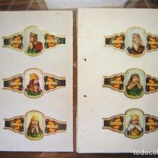 Vitolas de colección: ALVARO, REYES DE ESPAÑA, 96 VITOLAS GRANDES VITOLINAS, SERIE COMPLETA.. Lote 210047446