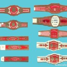 Anéis de charuto de coleção: 10 VITOLAS CANARIAS ANTIGUAS - MARCA LA ESMERALDA. Lote 210108615