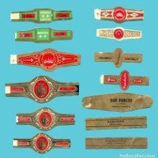 Anéis de charuto de coleção: 13 VITOLAS CANARIAS ANTIGUAS - MARCA ARAUTPALA. Lote 210109320