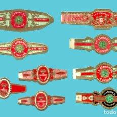 Anéis de charuto de coleção: 9 VITOLAS CANARIAS ANTIGUAS - MARCA LA ESMERALDA. Lote 210109360