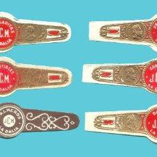 Anéis de charuto de coleção: 6 VITOLAS CANARIAS ANTIGUAS - MARCA LA DALIA. TODAS DISTINTAS. Lote 210109530