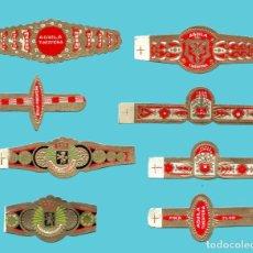 Anéis de charuto de coleção: 8 VITOLAS CANARIAS ANTIGUAS - MARCA ÁGUILA TINERFEÑA. Lote 210109880