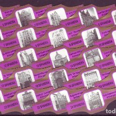 Vitolas de colección: SPANERA, MONUMENTOS DE AMBERES, VIOLETA/ORO, 24 VITOLAS, SERIE COMPLETA.. Lote 210540125