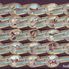 Vitolas de colección: STOMPKOP, ESTACIONES DE DEPORTES DE INVIERNO, AZUL, 24 VITOLAS, SERIE COMPLETA.. Lote 210540490