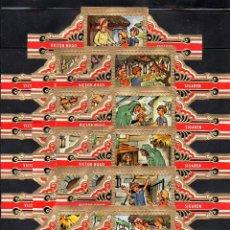 Vitole di collezione: VICTOR HUGO, LA CASITA DE CHOCOLATE, GRAN FORMATO, ROJO, 16 VITOLINAS, SERIE COMPLETA.. Lote 211394191