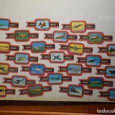 Vitolas de colección: 24 VITOLAS PUROS Y CIGARROS - CIGAR BANDS - SERIE - JUBILE - AVIONES MILTARES. Lote 212040215