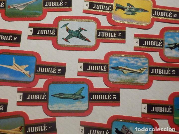 Vitolas de colección: 24 VITOLAS PUROS Y CIGARROS - CIGAR BANDS - SERIE - JUBILE - AVIONES MILTARES - Foto 2 - 212040215