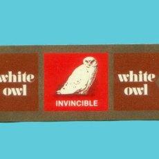 Vitolas de colección: VITOLA ANTIGUA - MARCA WHITE OWL (USA) - TEMÁTICA FAUNA (BUHO). Lote 278632518