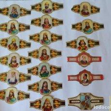 Vitolas de colección: LOTE DE 19 VITOLAS PUROS ALVARO, TAMAÑO GRANDE.. Lote 213776713