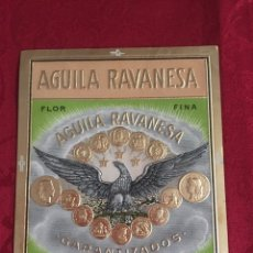 Vitolas de colección: LITOGRAFIA AGUILA RAVANESA. Lote 214429045
