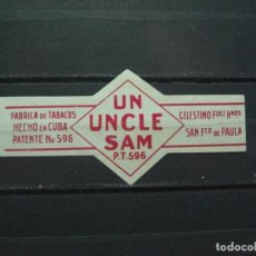 Vitolas de colección: VITOLA ANTIGUA. - CUBA . UN UNCLE SAM. (426). Lote 214621038