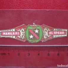 Vitolas de colección: VITOLA ANTIGUA. MANILA. - EL APEGO. (443). Lote 214625131