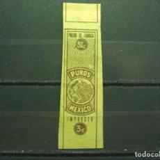 Vitolas de colección: VITOLA ANTIGUA MEXICO . PUROS MEXICO - IMPUESTO. 3C. (450). Lote 214647566