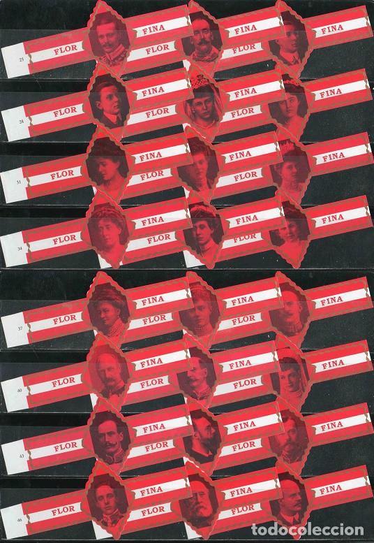 FLOR FINA. SERIE DE VITOLAS CLÁSICAS COMPLETA (24 UNID). NOBLEZA EUROPEA 2ª (CASAS REALES). (Coleccionismo - Objetos para Fumar - Vitolas)