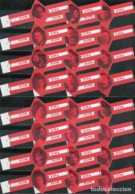 FLOR FINA. SERIE DE VITOLAS CLÁSICAS COMPLETA (24 UNID). NOBLEZA EUROPEA 3ª (CASAS REALES). (Coleccionismo - Objetos para Fumar - Vitolas)