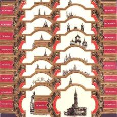 Anéis de charuto de coleção: PEÑAMIL, CATEDRALES ORO, SERIE I, 16 VITOLINAS, SERIE COMPLETA.. Lote 215634461