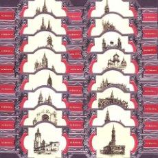 Anéis de charuto de coleção: PEÑAMIL, CATEDRALES PLATA, SERIE I, 16 VITOLINAS, SERIE COMPLETA.. Lote 215634477