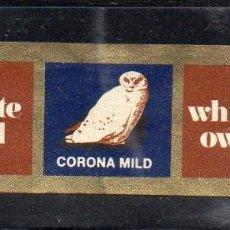 Vitolas de colección: VITOLA CLASICA: 083016, TEMA FAUNA, RAPACES, CORONA MILD, WHITE OWL.. Lote 217553631
