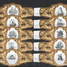 Vitolas de colección: TABACOS LA REFORMA. SERIE DE VITOLAS COMPLETA (10 UNID). VELEROS.. Lote 218708473