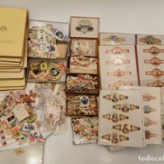 Vitolas de colección: GRAN LOTE DE VITOLAS DE TABACO, EN ÁLBUMES Y SUELTAS, AÑOS Y TABACOS VARIADOS. Lote 218797478
