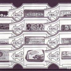 Anéis de charuto de coleção: MURILLO, CAJAS PUBLICITARIAS ANTIGUAS, BLANCO/PLATA, 12 VITOLAS, SERIE COMPLETA.. Lote 219322436