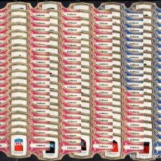 Anéis de charuto de coleção: MURILLO, CHIMENEAS NAVALES, AZUL/FUXIA, 100 VITOLAS, SERIE COMPLETA.. Lote 219323201