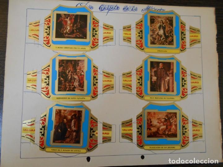 Vitolas de colección: VITOLAS ALVARO-CUADROS DE VALDES LEAL-SERIE COMPLETA-12 VITOLAS - Foto 2 - 219508246