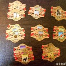 Vitolas de colección: VITOLAS-VIEIL ANVERS-ANIMALES-PAJAROS-PERROS-9 SERIES COMPLETAS-100 VITOLAS. Lote 219886138