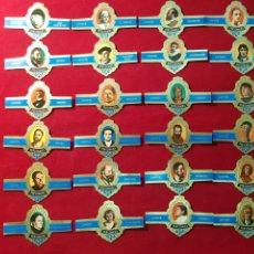 Vitolas de colección: SERIE COMPLETA 24 VITOLAS. PERSONAJES. SERIE F. CAPOTE. Lote 221947167